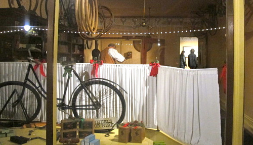 The Orville brothers' bike shop, relocated from Ohio, features the back room where they developed their prototype for the first working airplane