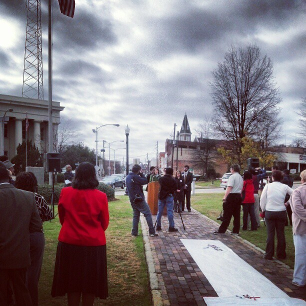 "An ""I Love Macon Day"" proclamation announcement was held in Rosa Parks Square on Tuesday, January 8, 2013."