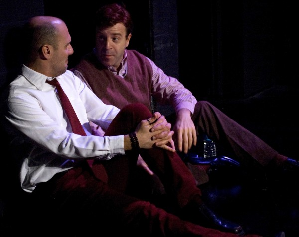 "Brian Westerley as Luke and Scott Shriner as Adam in ""Next Fall."" Photo courtesy of Weathervane Playhouse"