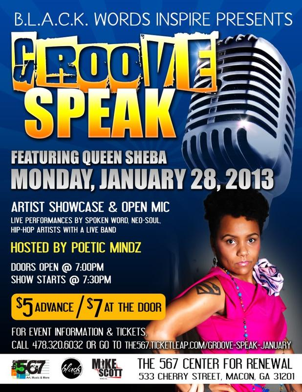 Groove Speak is a monthly event held at The 567 Center for Renewal.