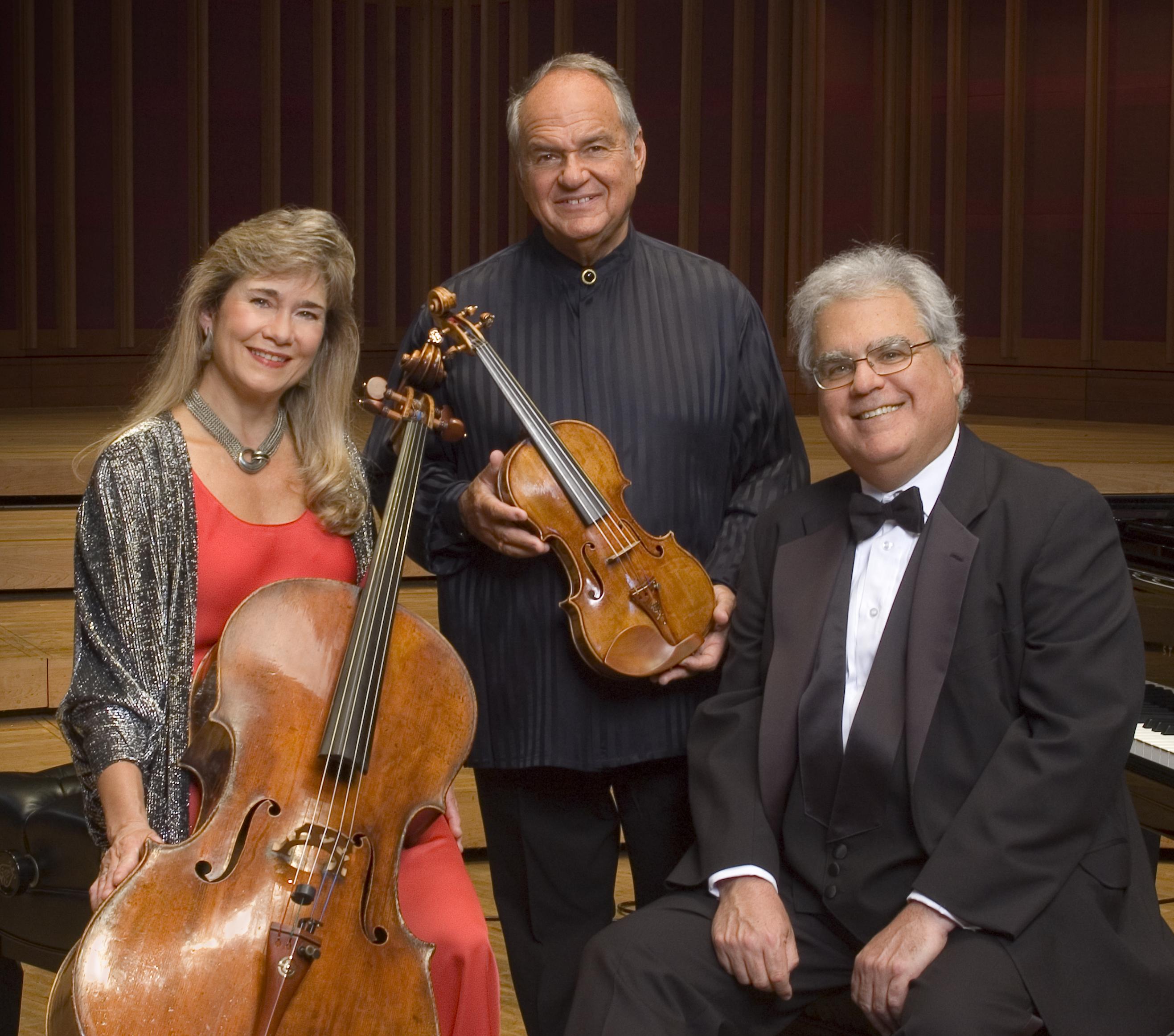 Sharon Robinson, Jaime Laredo and Joseph Kalichstein.