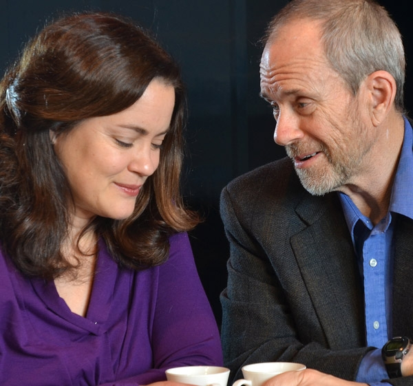 "Sally Groth (Linda) and Bob Keefe (Michael) in ""Fiction."" Photo courtesy of Actors' Summit"