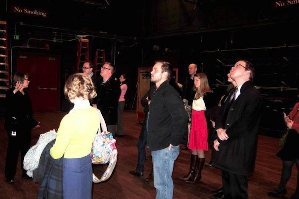Theoroi Members had the opportunity to explore the Ordway's backstage prior to the performance