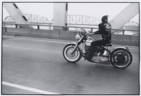 "Danny Lyon, ""Crossing the Ohio, Louisville."" Photo courtesy of Akron Art Museum"