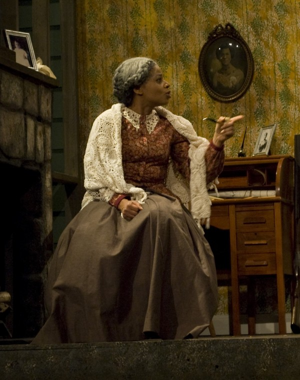 "Pamela Morton as Miss Leah in ""Flyin' West."" Photo courtesy of Weathervane Playhouse"