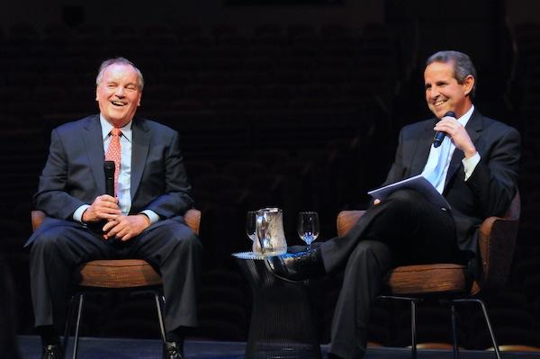 Former Mayor of Chicago and Keynote Speaker Richard Daley and Former Mayor Manny Diaz. Photo by Manny Hernandez