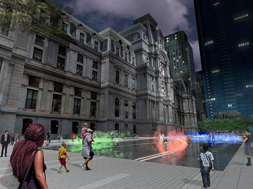 Artist's rendering of Janet Echelman's sculpture Pulse.