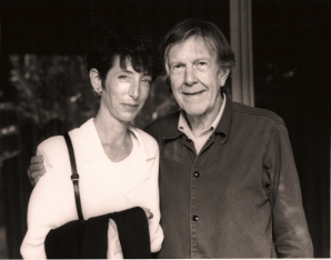Laura Kuhn and John Cage.
