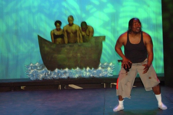 "Scene from ""The Emperor Jones."" Photo courtesy of Summit Artspace"