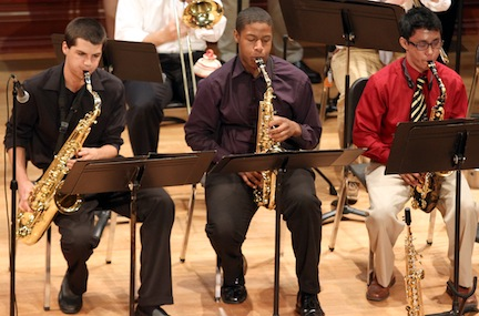 The Mercer Jazz Ensemble performs. Photo courtesy of Mercer University.