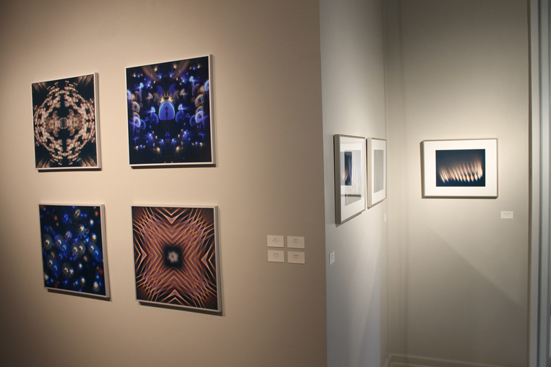Printed versions of a few of his abstract images were also on display.