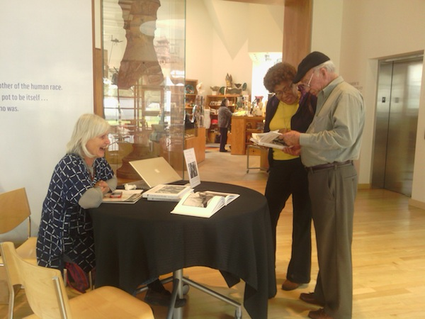 Betty Press signed books at the Ohr-O'Keefe Museum of Art Welcome Center