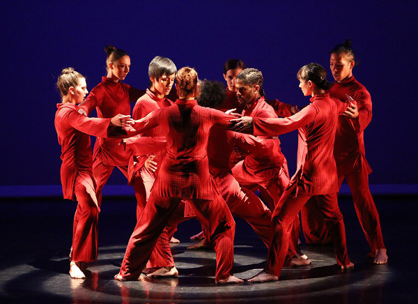 "The spiraling end of ""Mandala Project"" by Kun-Yang Lin/Dancers. Photo by Bill Hebert (BHPhotos)."