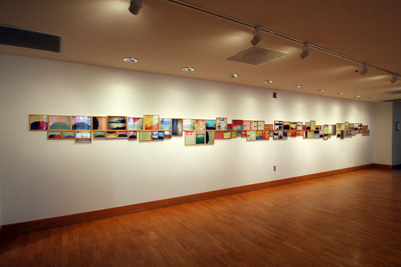 "Penelope Umbrico, installation view of ""Mountains, Moving"" courtesy of Bethel University galleries."