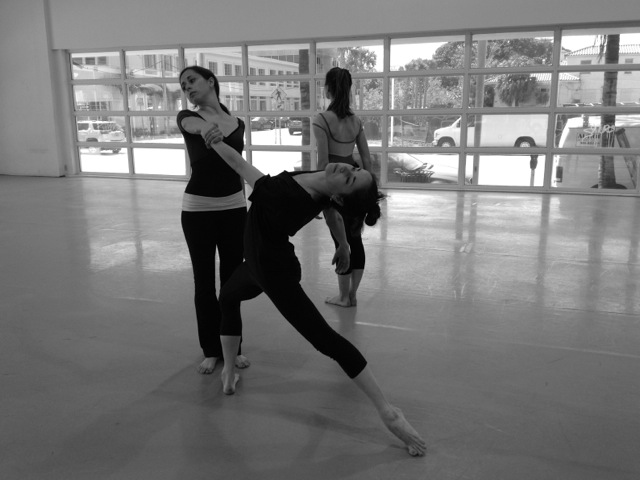 Miami City Ballet Dancers Sara Esty, Leigh Ann Esty, and Nicole Stalker at the Lab Miami
