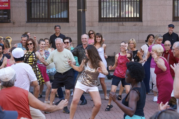 Summer Dance is fun for all!  Dance instruction during a 2012 Summer Dance event.  Photo:  Peter B Myers