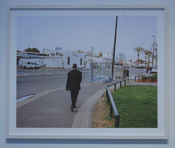 "J Carrier, ""Man Walking, Tel Aviv, Israel."""