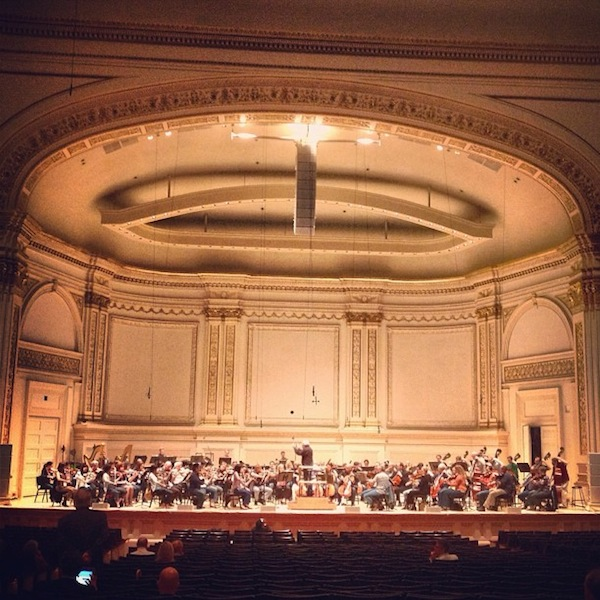 DSO rehearsal at Carnegie Hall