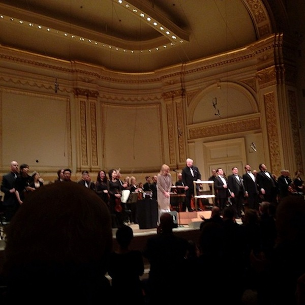 Standing ovation for the DSO at Carnegie Hall