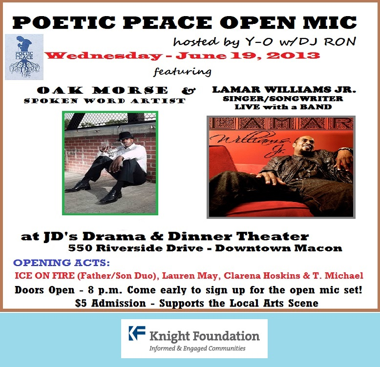 Poetic Peace Open Mic Flyer