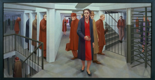"George Tooker, ""The Subway,"" from the collection of the Whitney Museum of American Art. Photo courtesy of the Akron Art Museum"