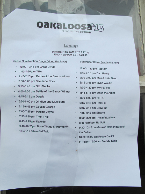 The Oakaloosa line-up.