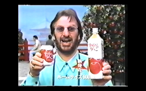 A commercial with a very excited Ringo Starr selling some sort of Japanese beverage.
