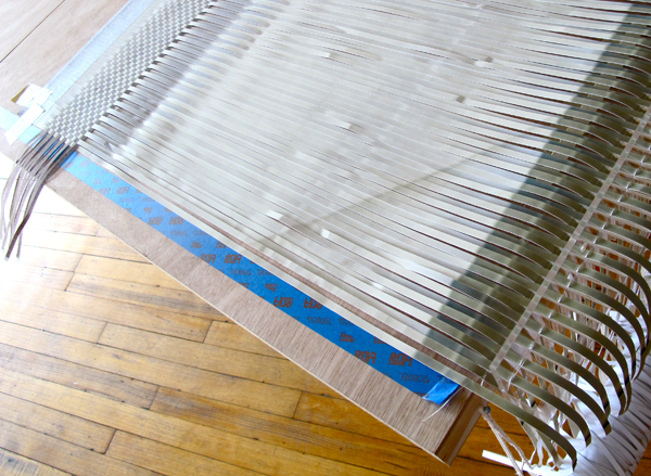 Now that the stage has been set, the work of weaving is progressing quickly.