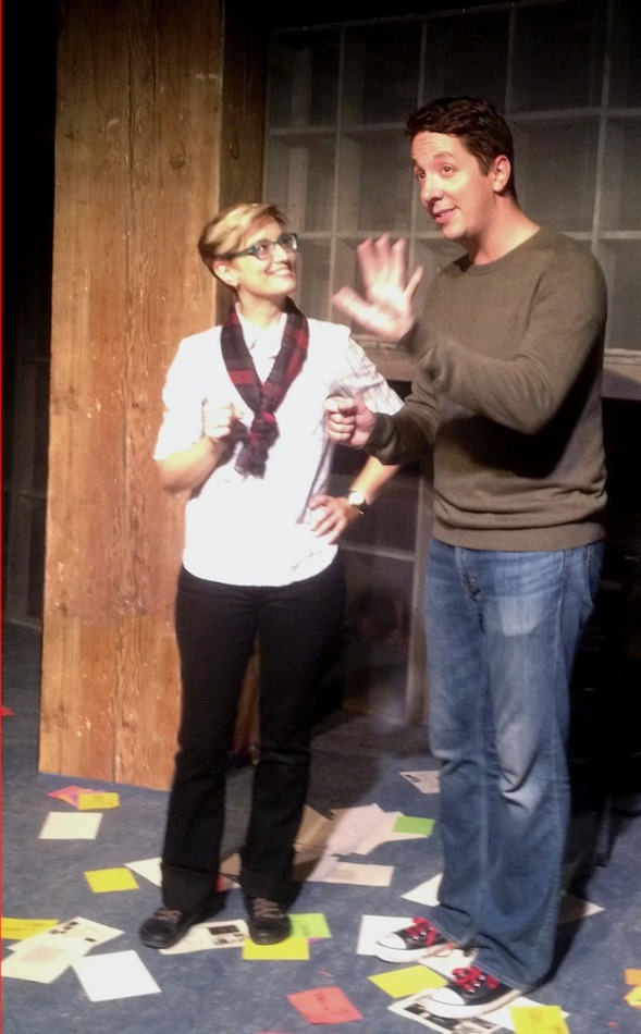 Grad student Deb (Jill Anna Ponasik) and budding artist Warren (Max Wojtanowicz). Photo courtesy of Nautilus Music-Theater.