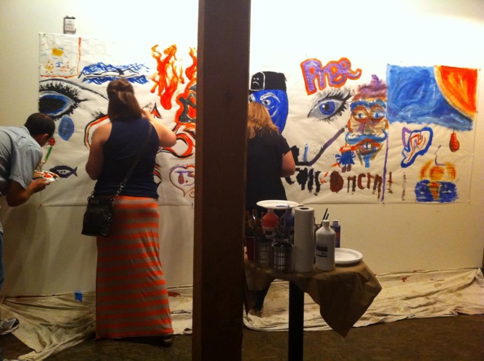 "A street art exhibit at The 567 Center for Renewal included a wall for attendees to ""grafitti."" Photo courtesy of The 567 Center for Renewal."