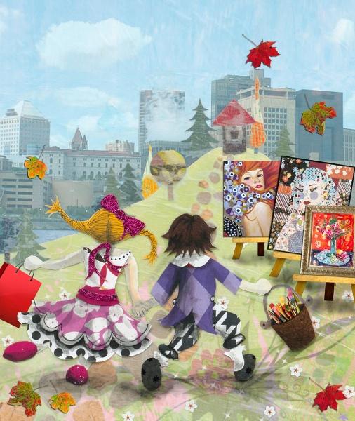 "Kristi Abbott,""Jack & Jill @ Fall Art Crawl,"" one of the fall 2013 poster contest winners. Courtesy of the St. Paul Art Crawl."