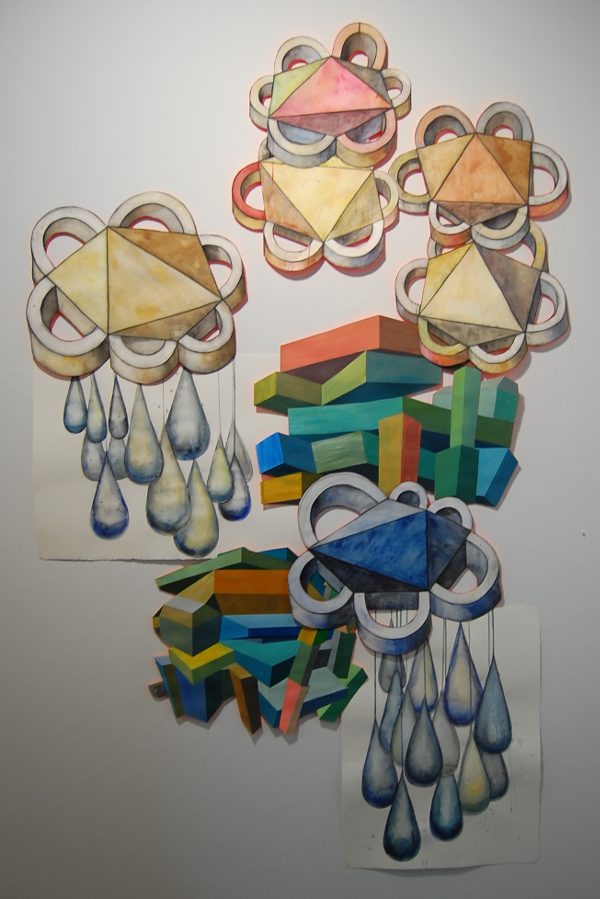 "Andrea Keefe, ""3D Thoughts (The Flowering Knocked Down Buildings)."""