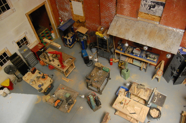 """A view of the Traction Company work space in """"SubTraction"""" at Napoleon."""
