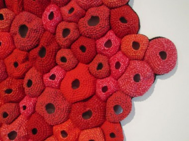 "Emily Barletta, ""Pelt,"" crocheted yarn, 2007. Photo courtesy of MMAA"