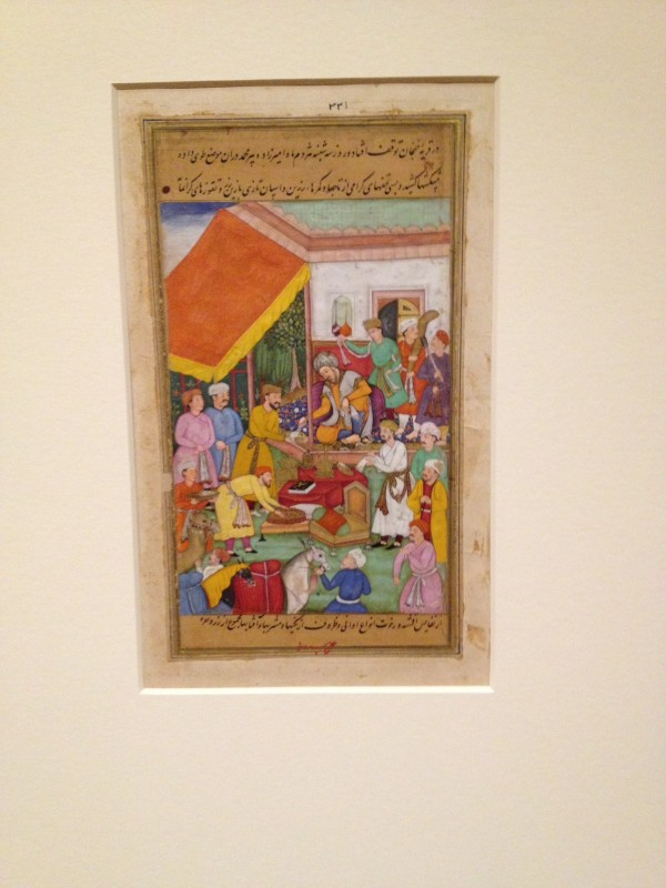 """Timur Distributed Gifts from His Grandson,"" Cleveland Museum of Art."
